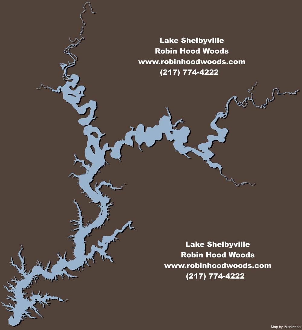 Lake Shelbyville Map